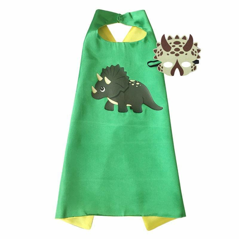 Dinosaur Boy Triceratops Cape and Mask Set 00045