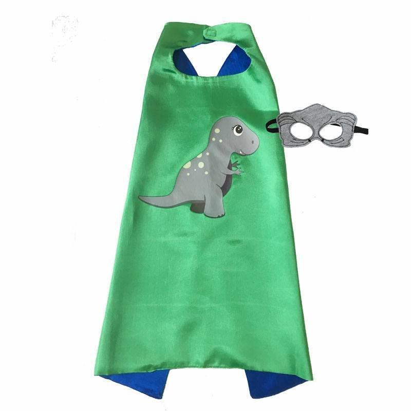 Dinosaur Boy T-Rex Cape and Mask Set Dress Up 00047