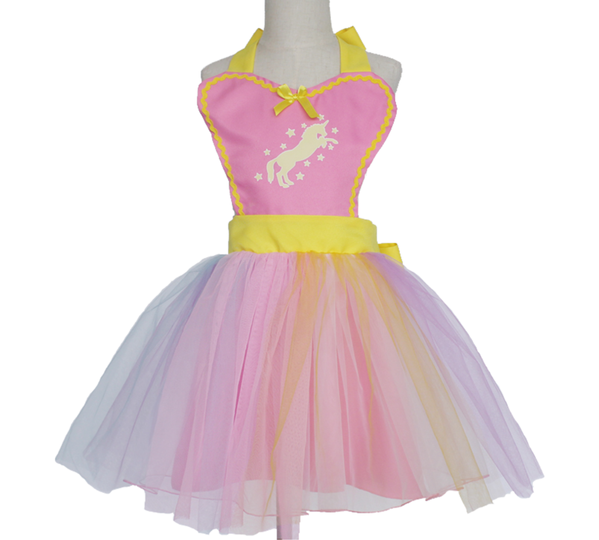 Unicorn Tutu Apron Dress - Pink 00050