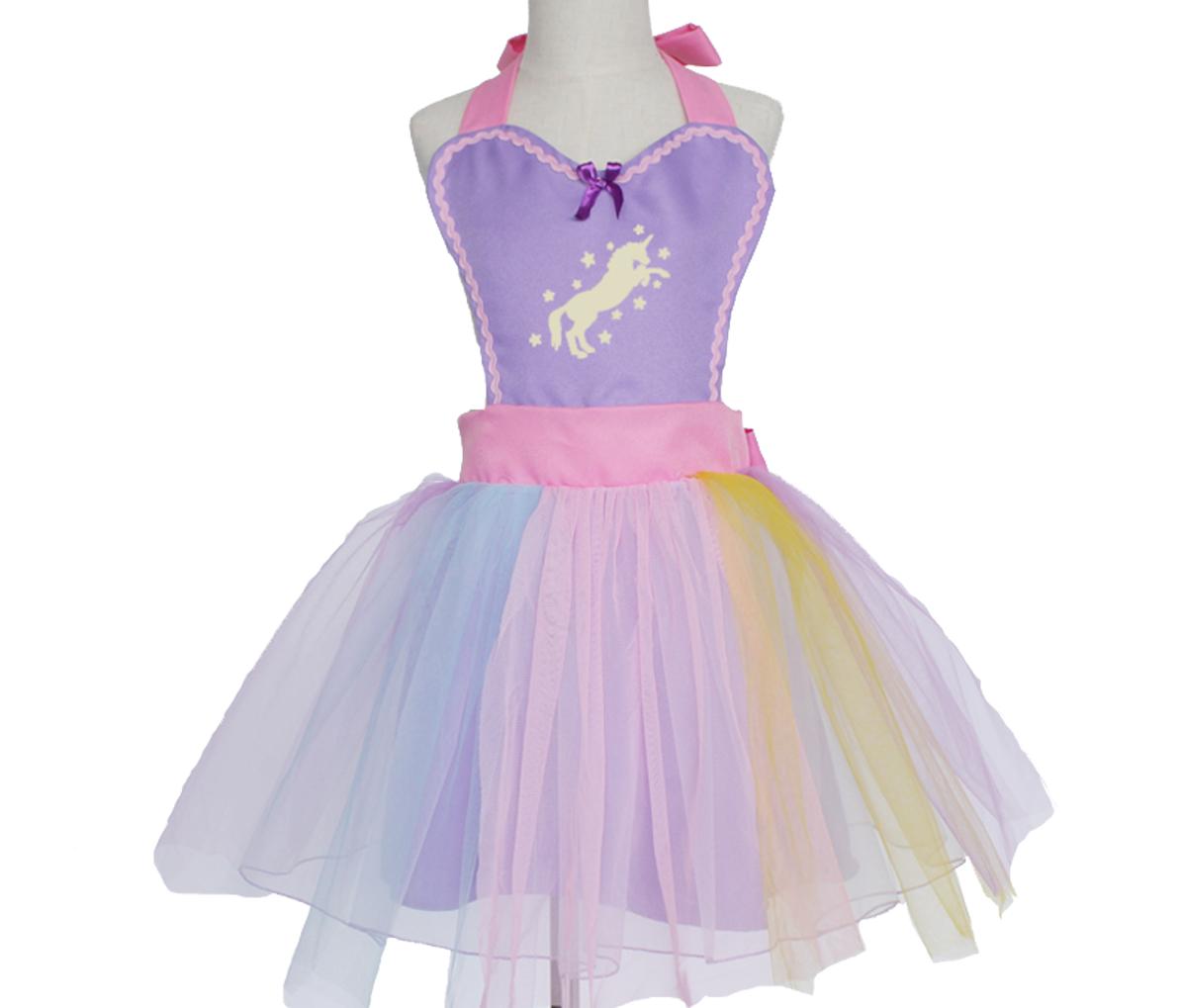 Unicorn Tutu Dress Apron - Purple 00049