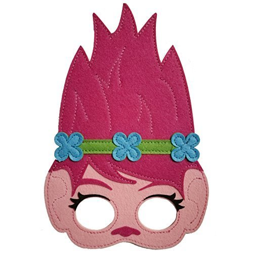 Traindrops Trolls Poppy and Branch Dress Up Cape and Mask Set Costume (Poppy)