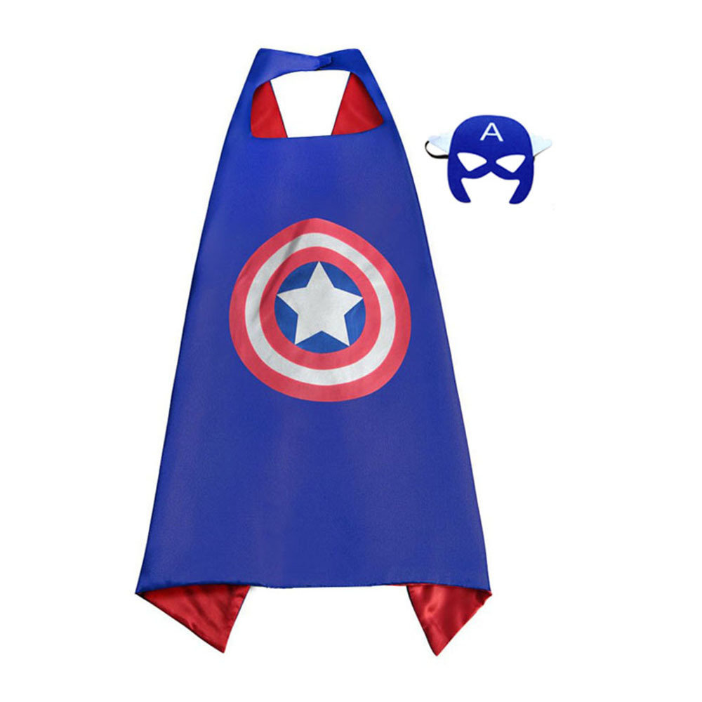 Captain America Dress Up Cape and Mask Set