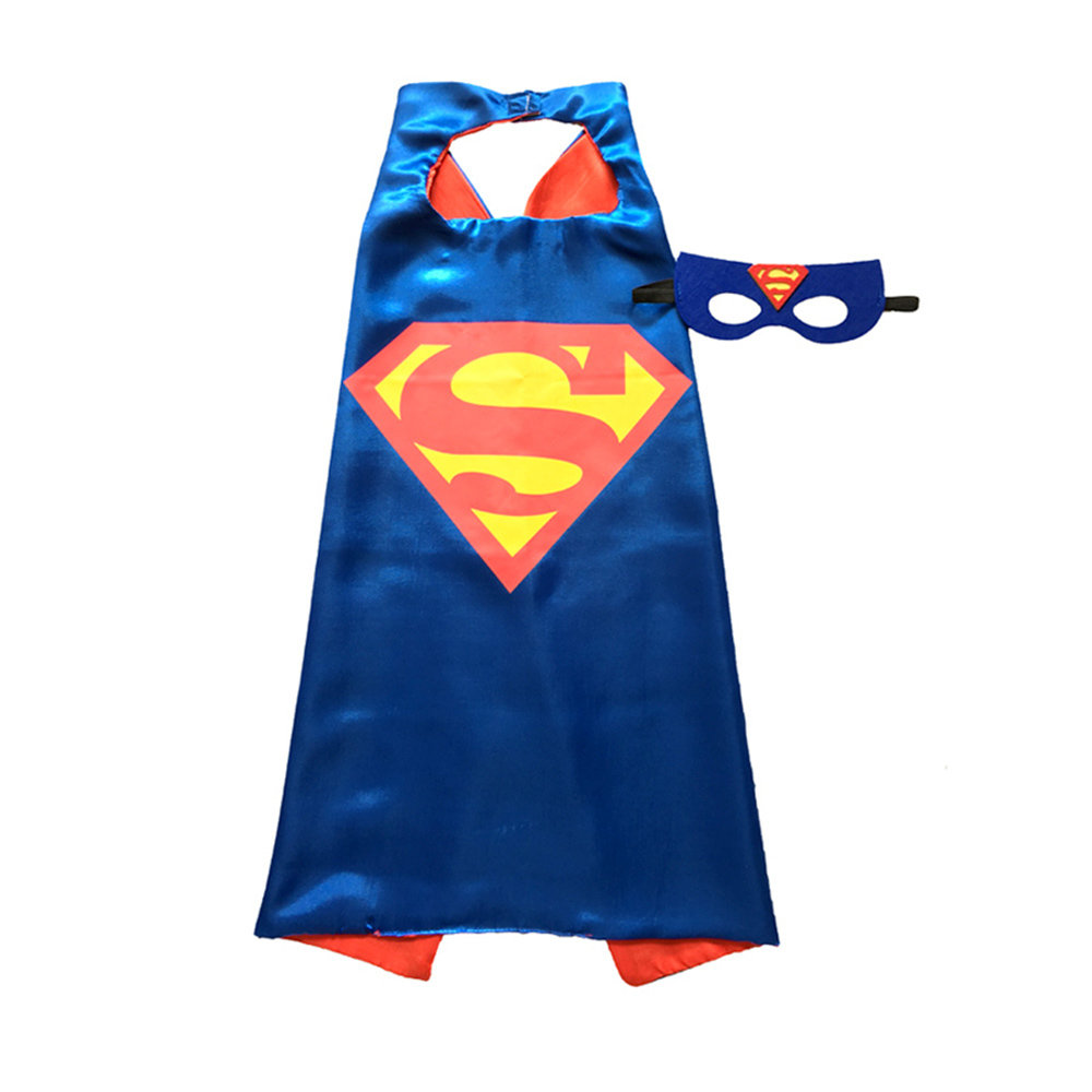 Super Man Dress Up Cape and Mask Set-Blue 00067