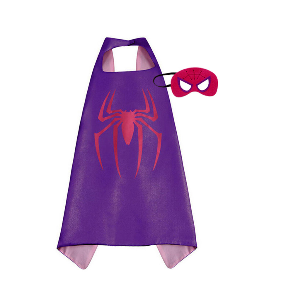 Spider Girl Dress Up Cape and Mask Set 00068