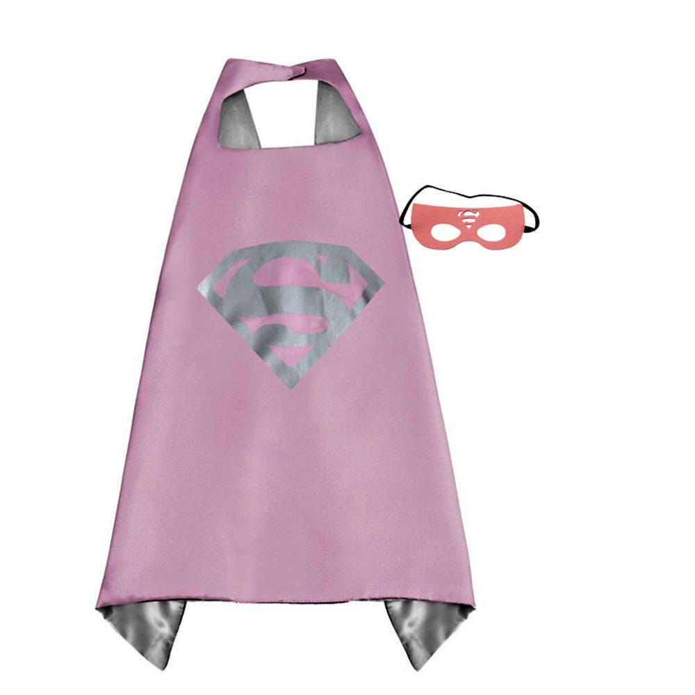 Super Girl Dress Up Cape and Mask Set 00069