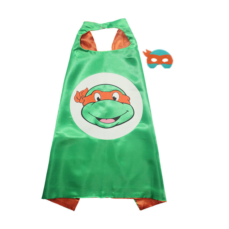 Traindrops Teenage Mutant Ninja Turtle Michaelangelo Cape and Mask Set 00087