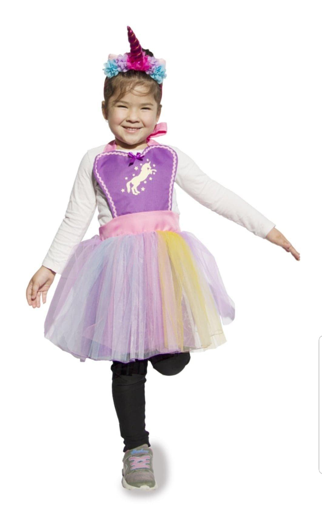 Unicorn Tutu Dress Apron - Purple