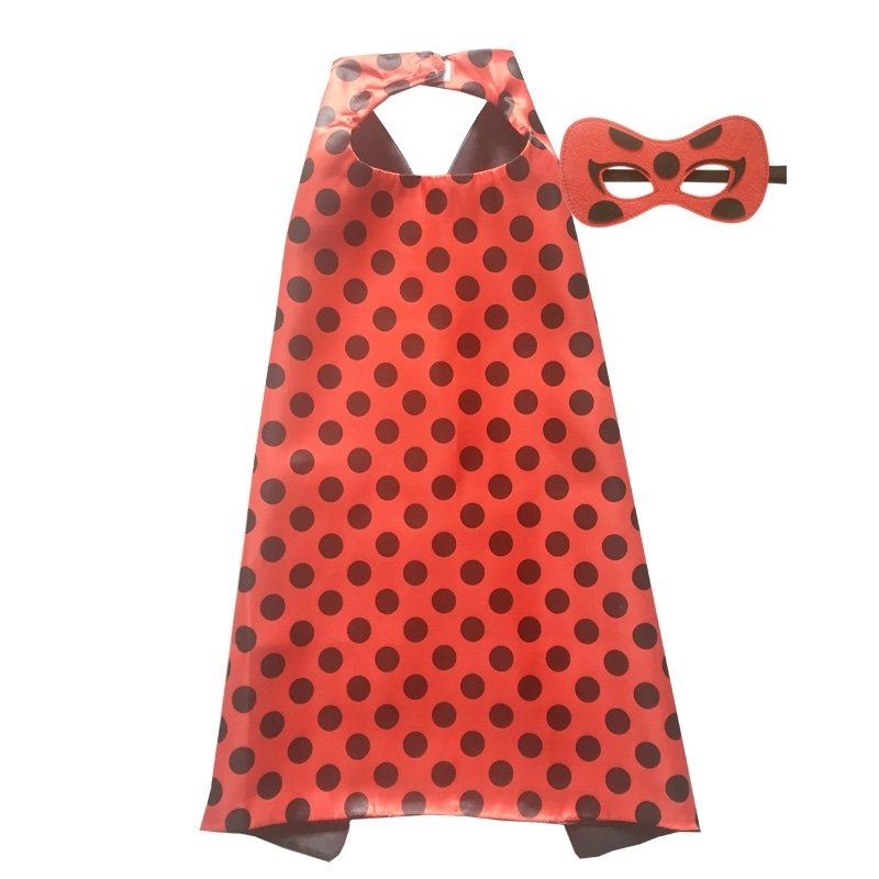 Miraculous Lady Bug Cape and Mask Set 00098