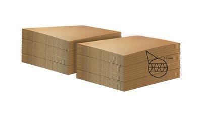 LASTRA DI CARTONE  per ECOPALLET  80x120cm X 10mm • 160 pezzi