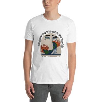 World Crying Save the World Short-Sleeve Unisex T-Shirt