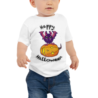 Bat & Pumpkin Baby Jersey Short Sleeve Tee