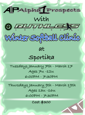 A1P/Ruthless 2020 Winter Softball Clinic