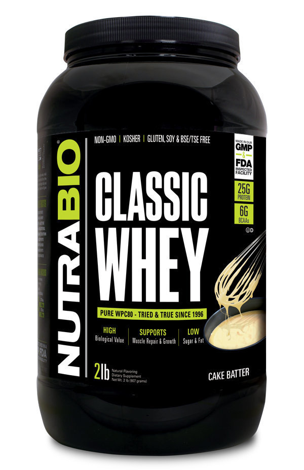 Protein Classic 2 Lbs Cake Batter Nutrabio_ProteinClassic_CakeBatter_2lbs