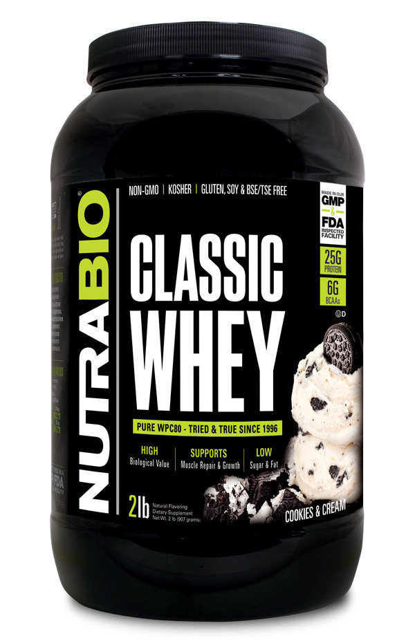 Protein Classic 2 Lbs Cookies & Cream Nutrabio_ProteinClassic_CookieAndCream_2lbs