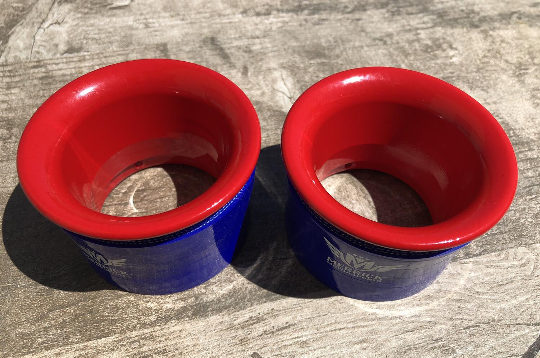 EL CHEAPO BIN 2015-2019 Challenger Headlight Intake Rings Brembo Red Powdercoated (Set of 2)