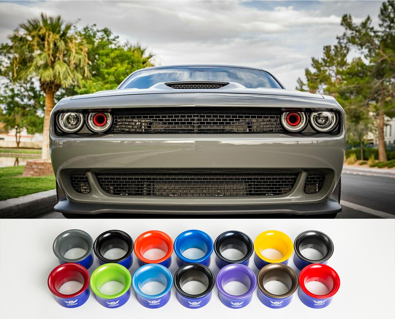 Dodge Demon Colors >> 2015 2019 Bulletproof Powder Coated Dodge Challenger Headlight Intake Rings Mopar Colors Set Of Two