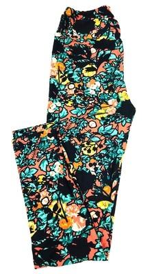 One Size (OS) Roses LuLaRoe Leggings
