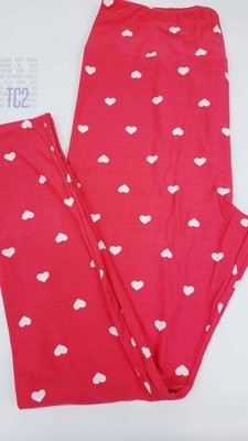 Tall Curvy Two (TC2) Valentines Hearts and Love LuLaRoe Leggings