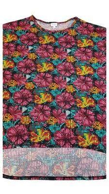 Irma LuLaRoe Tunic XXX-Large (3XL) Multicolor Geometric Floral Fits Womens Sizes 26+