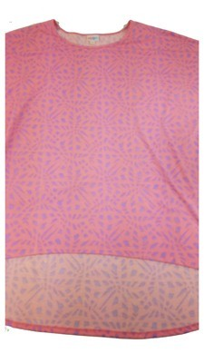 Irma LuLaRoeTunic XXX-Large (3XL) Multicolor Geometric Floral Fits Womens Sizes 26+