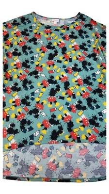 Irma LuLaRoe Disney Mickey Mouse Tunic XXX-Large (3XL) Multicolor fits 26+