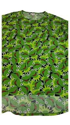 IRMA Disney Muppets Kermit the Frog Medium (M) LuLaRoe Tunic fits 12-14