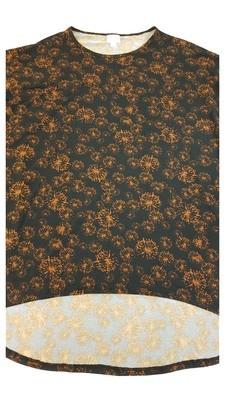 Irma LuLaRoe Black Indian Red Dandelions Multicolor Geometric Floral Medium (M) Tunic fits 12-14