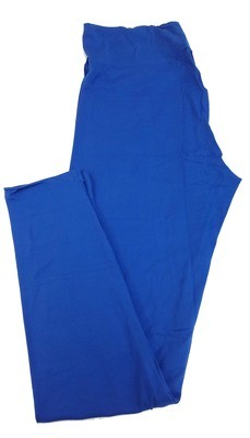 Tall Curvy 2 (TC2) Solids Limoges Blue LuLaRoe Leggings