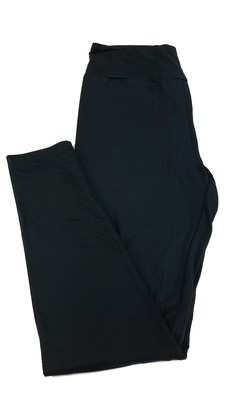 One Size (OS) Solids Jet Black LuLaRoe Adult Womens Leggings fit Sizes 2-10