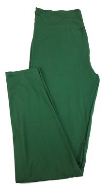 One Size (OS) Solids Hunter Green LuLaRoe Adult Womens Leggings fit Sizes 2-10