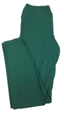 One Size (OS) Solids Ponderosa Pine Green LuLaRoe Adult Womens Leggings fit Sizes 2-10