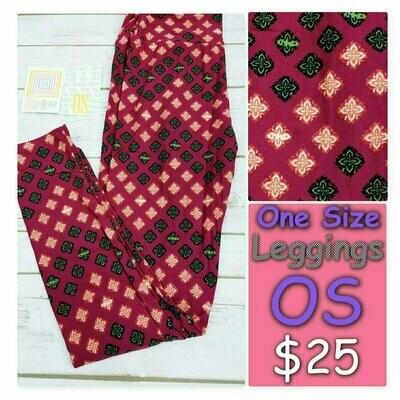 One Size (OS) Polka Dots LuLaRoe Leggings fits sizes 2-10