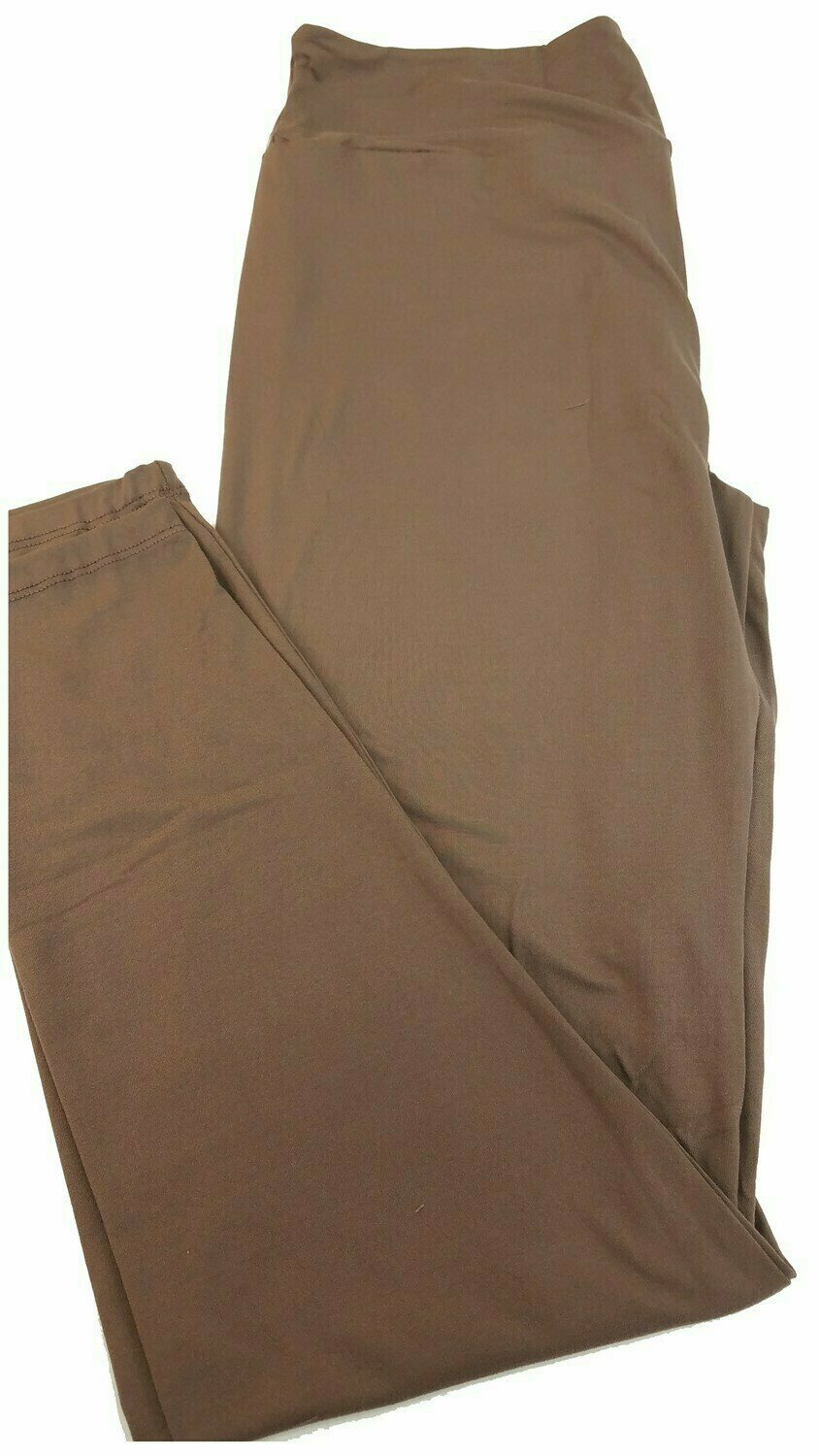 One Size (OS) Solid Deep Taupe LuLaRoe Adult Womens Leggings fit Sizes 2-10