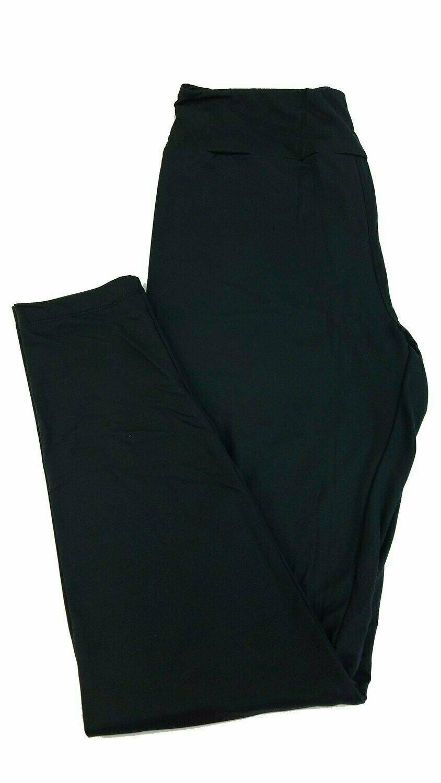 One Size (OS) Solid Jet Black LuLaRoe Adult Womens Leggings fit Sizes 2-10