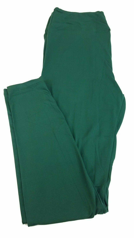 One Size (OS) Solid Ponderosa Pine Green LuLaRoe Adult Womens Leggings fit Sizes 2-10
