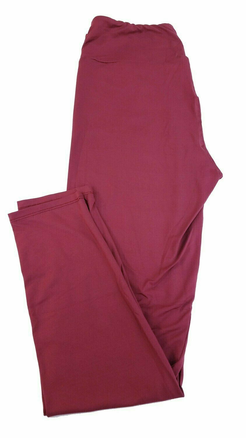 One Size (OS) Solid Roan Rouge LuLaRoe Adult Womens Leggings fit Sizes 2-10