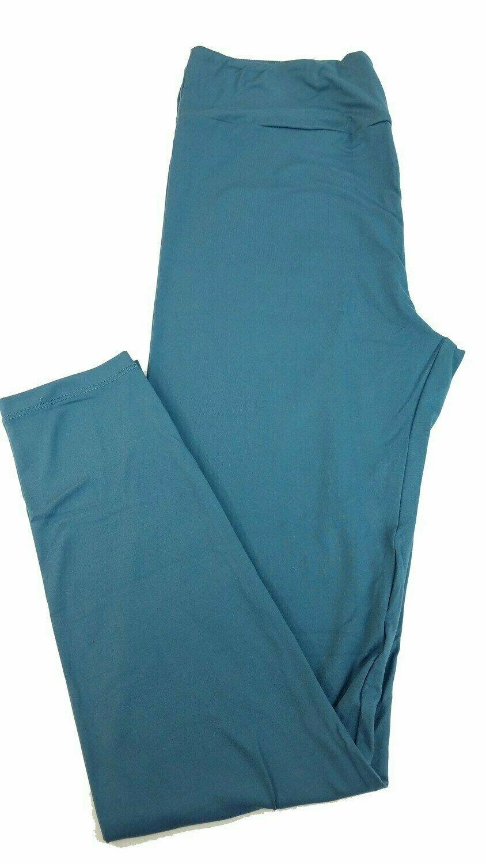 One Size (OS) Solid Slate Blue LuLaRoe Adult Womens Leggings fit Sizes 2-10