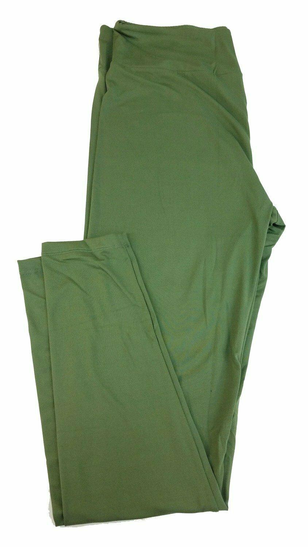 Tall Curvy 2 (TC2) Solids Army Green LuLaRoe Leggings fits Sizes 18+