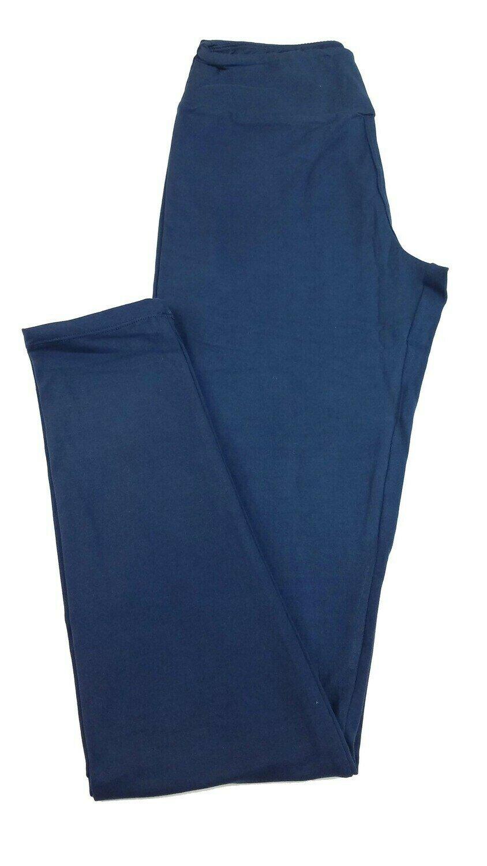LuLaRoe Tall Curvy TC Solid Navy Black Iris Buttery Soft Leggings fits Womens sizes 12-18