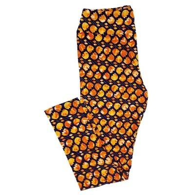 LuLaRoe Tall Curvy TC Floral Polka Dots Geometric Leggings fits 12-18
