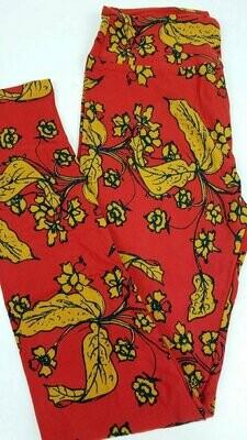 One Size (OS) Floral LuLaRoe Leggings fits sizes 2-10