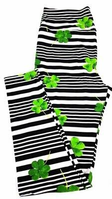 LuLaRoe Tall Curvy TC Luck of the Irish St Patricks Notre Dame Leggings fits 12-18