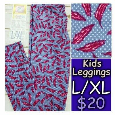 Leggings Kids Large-XL (LXL) LuLaRoe Animals and Objects fits sizes 8-14