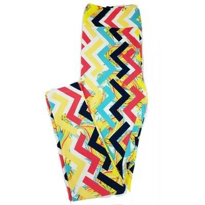 LuLaRoe Tall Curvy TC Paisley Geometric Floral Leggings fits 12-18