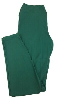 LuLaRoe Tall Curvy TC Solid Pine Green Buttery Soft Leggings fits Womens sizes 12-18