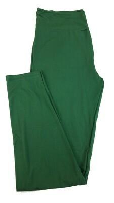 LuLaRoe Tall Curvy TC Solid Hunter Green Buttery Soft Leggings fits Womens sizes 12-18