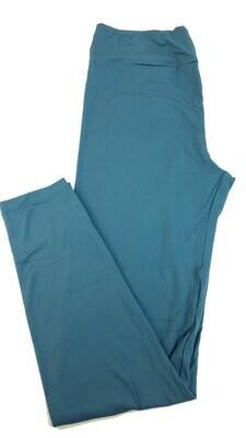 LuLaRoe Tall Curvy TC Solid Slate Blue Buttery Soft Leggings fits Womens sizes 12-18