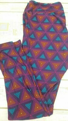 LuLaRoe Tall Curvy TC Psychedelic, 70s, Trippy Leggings fits sizes 12-18
