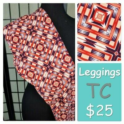 LuLaRoe Tall Curvy TC Psychedelic, 70s, Trippy Leggings fits sizes 12-18