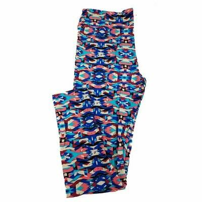 LuLaRoe Tall Curvy TC Geometric Trippy Leggings fits 12-18